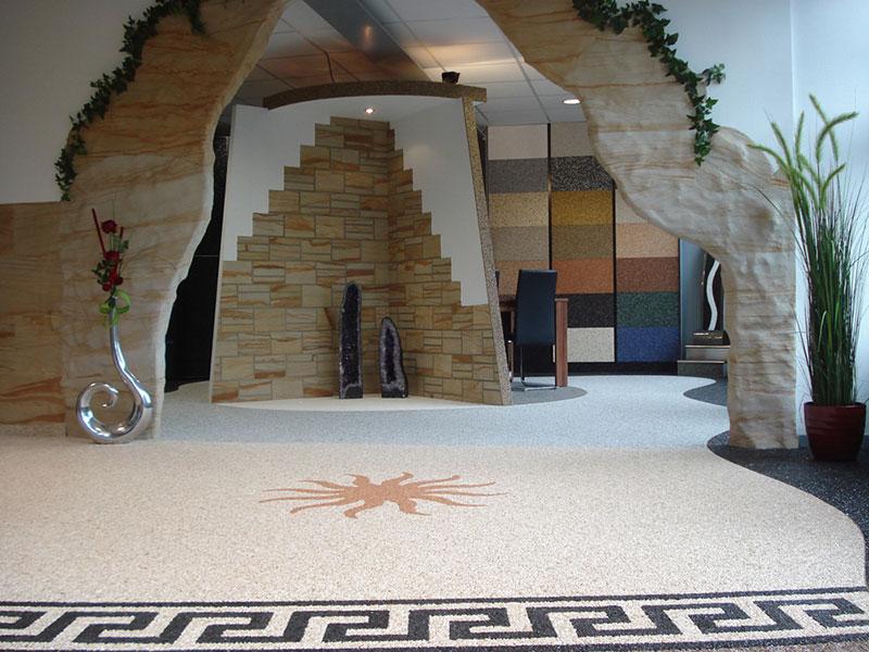 Steinteppich Kieselbeschichtung